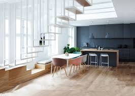 photo cuisine americaine une cuisine ouverte sur la salle à manger lofts interior