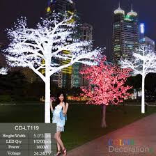 How To Decorate Outdoor Trees With Lights - cd lt119 white outdoor led lighted trees wedding decorative tree