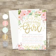 girl baby shower invitations gold confetti baby shower invitation girl baby shower