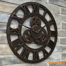 clock mania gold oversized large 3d retro rustic decorative