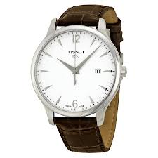 tissot watches leather bracelet images Tissot t classic tradition silver dial brown leather men 39 s watch jpg