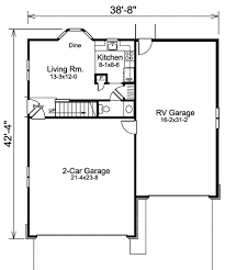 apartment garage floor plans apartment garage plus rv storage 57157ha architectural designs