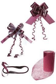kit deco voiture mariage décoration de la voiture pour le mariage ruban tulle nœuds