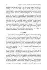 how to write a reflective paper examples 3 cognitive foundations for early mathematics learning page 84