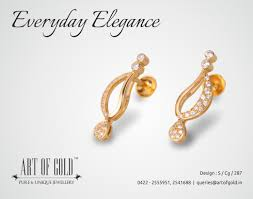 s gold earrings 7 best ear wear images on jewellery designs studs and ear