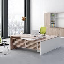 Corner Desk Furniture Contemporary Computer Desk Glass Executive Office Desk Wood Office