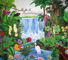 Wall Scenes by Wall Art Decor Creative Expressions Rainforest Wall Art Mural
