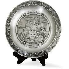 personalized baby birth plates personalized pewter baby plate walmart