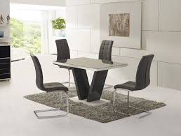 Glass Dining Sets 4 Chairs White Gloss Dining Room Table Livegoody