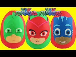 pj masks play doh surprise eggs compilation gekko catboy owlette