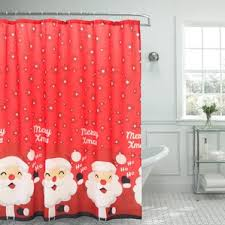 Santa Curtains Graphic Print U0026 Text Shower Curtains You U0027ll Love Wayfair