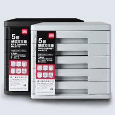 Plastic File Cabinet 9773 Five Desktop File Cabinet Drawer Plastic Stationery Storage