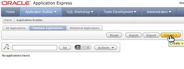 building an application using oracle application express part 1