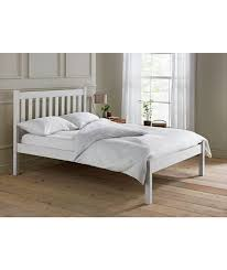 buy silbury kingsize bed frame solid pine with whitewash effect at