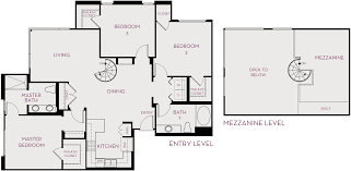 metropolis spacious new apartments in irvine 3 bedroom mezzanine 2 bath approx 1 726 sq ft priced from 3 775 month
