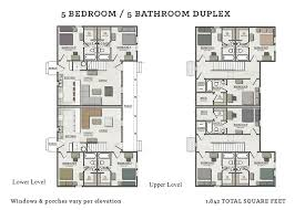 five bedroom floor plans the cottages of tempe at 708 s lindon tempe az 85281 for