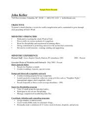 Pastoral Resume Examples by Sample Of A Pastors Resume Sample Resumes For Senior Pastors