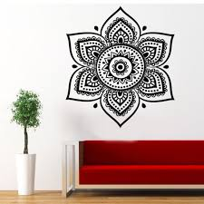 Wall Decals Mandala Ornament Indian by Flower Wall Decal Indian Mandala Namaste Flower Wall Decal Lotus