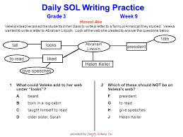 grade 3week 9 daily sol writing practice provided by simply