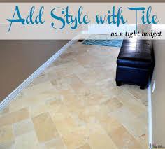 Herringbone Laminate Floor Travertine Tile On A Budget Her Tool Belt