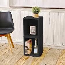 Narrow Black Bookcase 2 Shelf Narrow Bookcase In Black Formaldehyde Free Way Basics