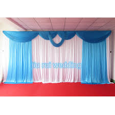 wedding backdrop for sale 3m 6m sky blue swags hot sale white wedding backdrop stage