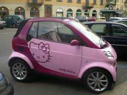 smart car pink panoramio photo of smart hello kitty