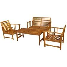 Patio Chairs Wood Wood Outdoor Furniture Ebay