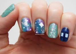 doctor who galaxy nail art adventures in acetone
