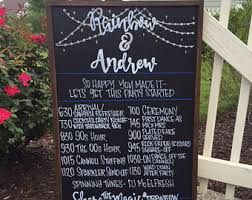Wedding Program Board Wedding Table Assignments Seating Chalk Board Table Listings