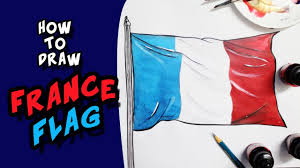 how to draw national flag of france flag step by step youtube