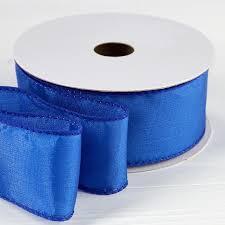 wired ribbon royal blue satin wired ribbon ribbon and trims craft supplies