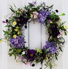 Silk Flower Depot - spring medley silk flower spring door wreath 22 inch the
