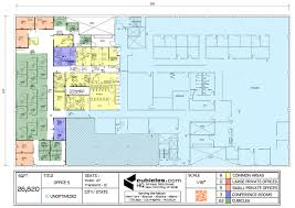 floor plan of the office with l shaped cubicles officelayout