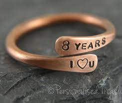 8th wedding anniversary gifts for him bronze ring bronze anniversary 8th anniversary gift bronze