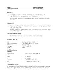 Sap Basis Resume 5 Years Experience Sap Security Resume 2 Nikon Sap Se