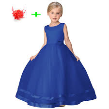 kids wedding dresses online shop white blue pink princess birthday gown wedding