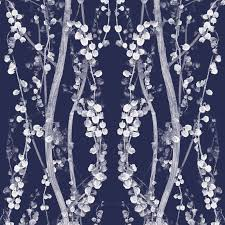Home Decor Branches Branches Self Adhesive Wallpaper In Mystery Blue Design By