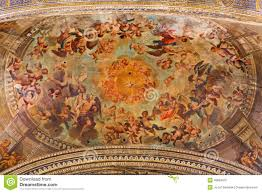 seville the ceiling baroque fresco of angels in heaven in