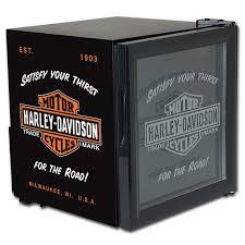 small beer fridge glass door harley davidson bar and shield electric cooler mini fridge