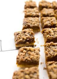 thanksgiving truffles pumpkin pie streusel bars video truffles and trends