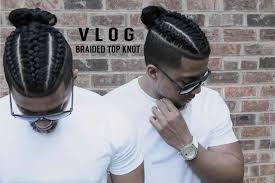 hair braided on the top but cut close on the side fresh cut new style braids samurai top knot man bun youtube