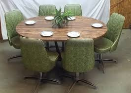 chromcraft table and chairs chromcraft table 6 chairs mid century 60s 70s green dining room