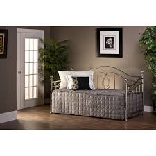 Pewter Bedroom Furniture Hillsdale Furniture 11176 Milano Daybed In Antique Pewter