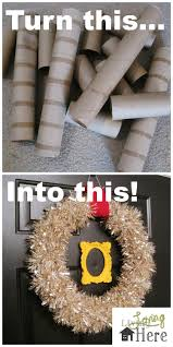 toilet paper roll wreath craft choice image craft decoration ideas