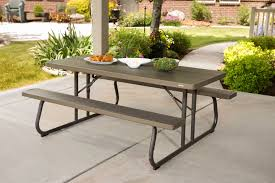 lifetime 6 folding outdoor picnic table brown 60110 lifetime 6 foot picnic table images table decoration ideas