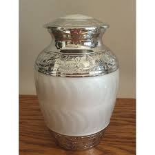 pet urn small white pearl pet urn dog or cat sweet