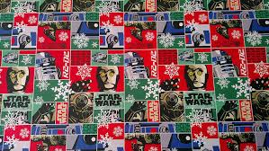 wars wrapping paper droid christmas gift wrap 1