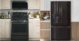 what color cabinets match black stainless steel appliances ge black stainless steel appliances 2020 reviews
