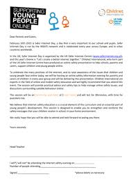 safer internet day letter to parents and carers by childnet
